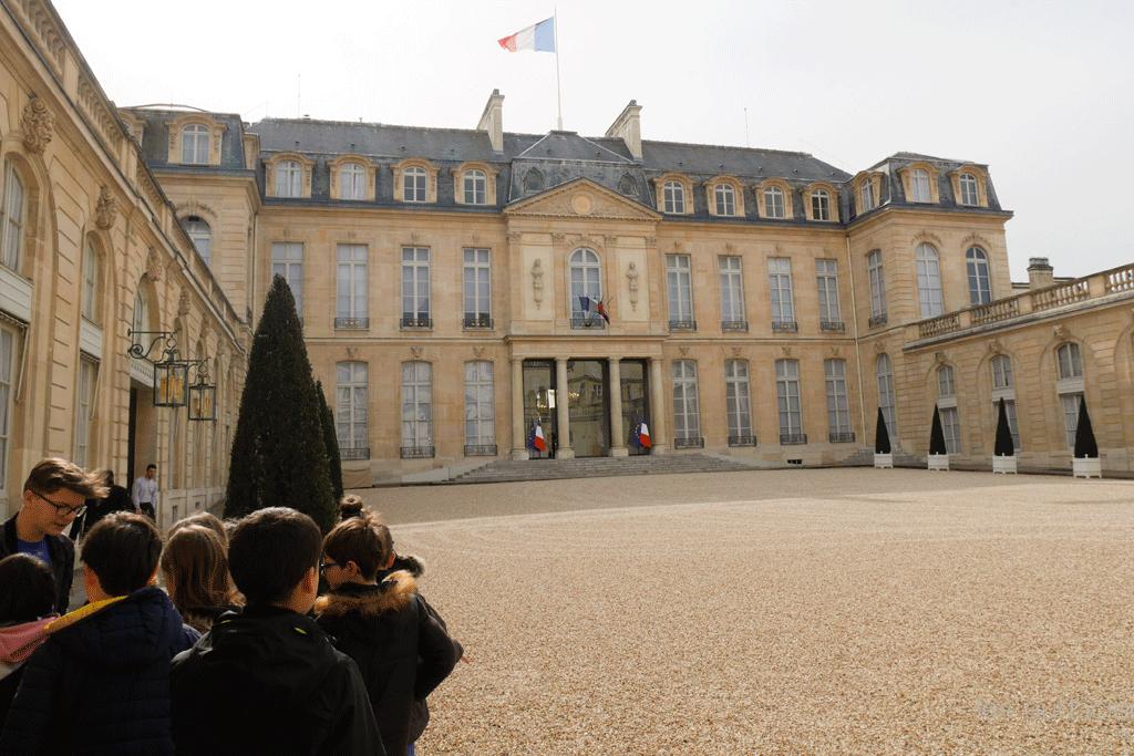 des écoliers à l'Elysée ©DR #lesaudacieux
