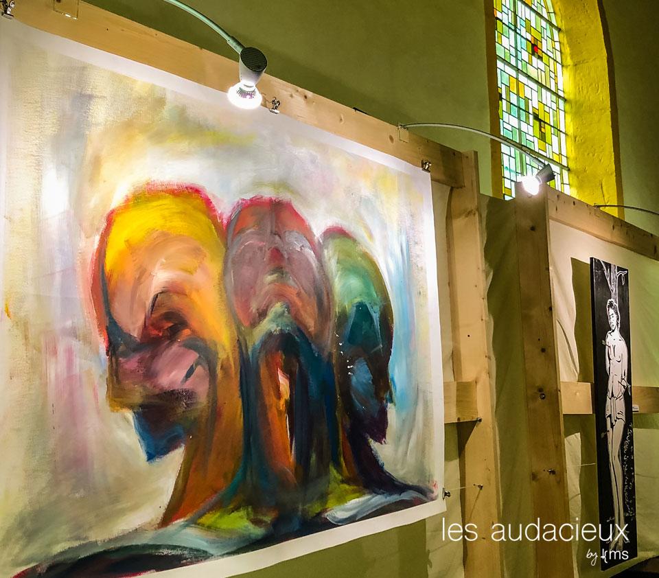 art contemporain à l'église romane de Champ-le-Duc ©kms communication