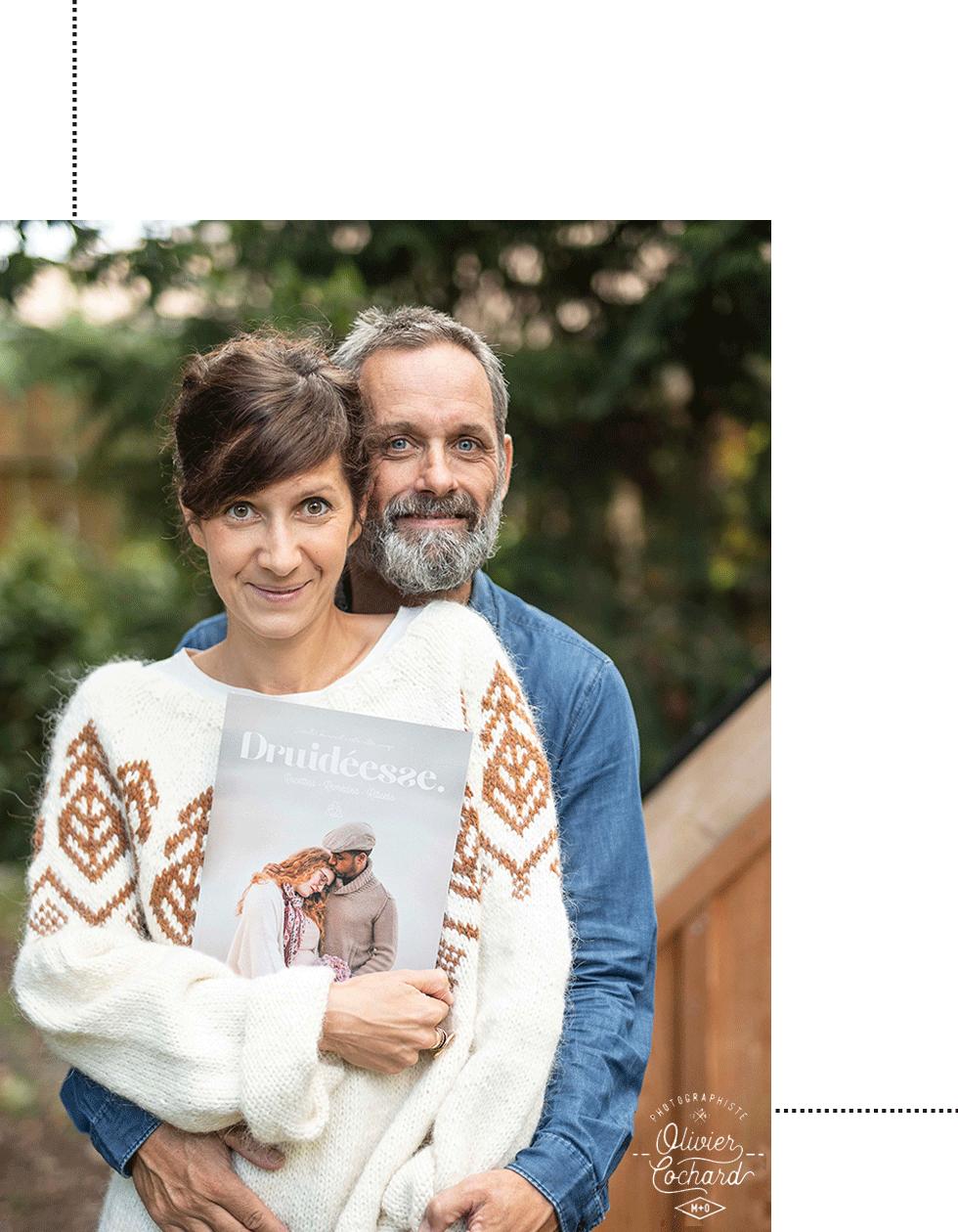 Marie et Olivier Cochard, fondateurs de Druideesse - Photo Olivier Cochard pour les Audacieux